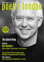 Poetry London issue 59 - front cover