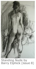 Standing Nude by Barry Elphick