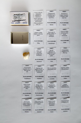 Matchbox 12 with contents laid out