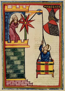 medieval Lovers, pulled in a basket