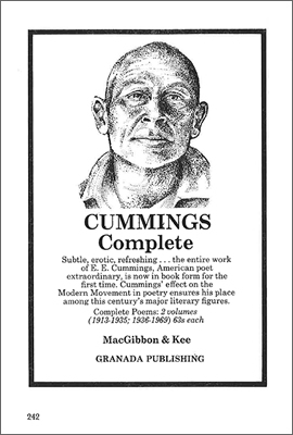 advert for EE Cummings Collected Poems