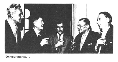 Photograph of poets drinking